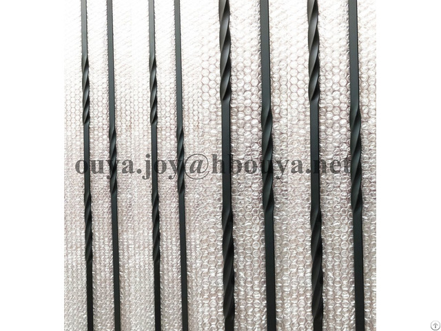 Black Interior Stair Decorative Metal Balusters