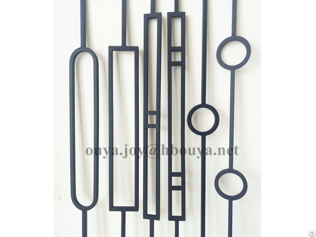 Square Interior Hollow Iron Stair Balusters