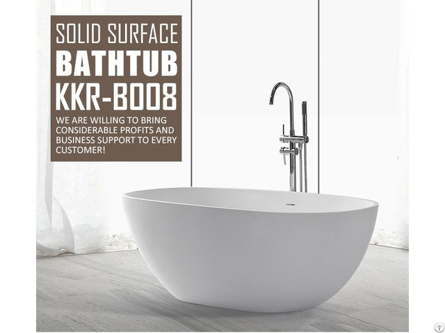 Bathroom Furniture Artificial Stone Freestanding Pedestal Oval Large Bathtubs Wholesales