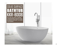Bathroom Furniture Artificial Stone Freestanding Pedestal Oval Large Bathtubs Wholesales