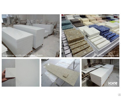 Decorative Acrylic Shower Wall Panels White Alabaster Slabs Pure Solid Surface