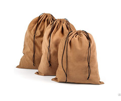 Extra Large Suede Velvet Drawstring Bag