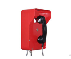 Red Color Armored Hotline Emergency Bank Telephone For Outdoor Use