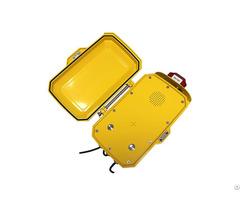 Aluminium Alloy Public Auto Dial Yellow Phone Explosion Proof Hands Free Analog Telephone Jwat410