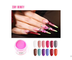 Popular Colors Nails Acrylic Powder Wihout Lamp Cure Air Dry For Nail Salon
