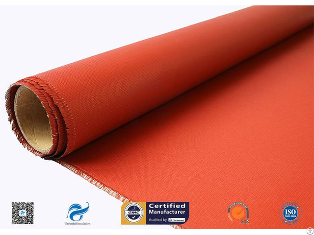 C Glass 3732 Two Side Red Silicone Rubber Coated Fiberglass Fabric