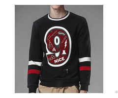 Wholesale Logo Printed Cotton Mens Crewneck Oversized Sweatshirts