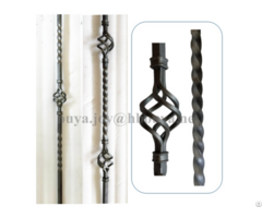 Solid Square Wrought Iron Basket Balusters
