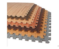 Wood Grain Interlocking Foam Mats Floor Tiles