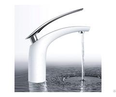 Unique Design High Quality White Mixer Taps Basin Faucet