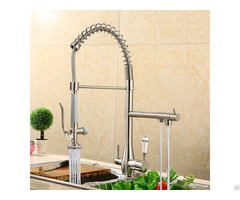 Pull Out And Down 3 Way Kitchen Faucets Taps With Sprayer