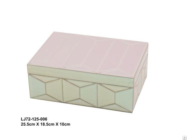 Flip Dust Glass Jewelry Box