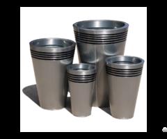 Garden Plant Pots Planters Zinc Gavalnized Metal Jar Vase Bowl