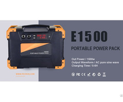 1500w 220v 110v Outdoor Camping Lithium Battery Solar Energy Storage Power Bank Pack
