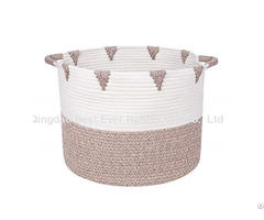 Durable Decorative Large Blanket Storage Basket With Long Handles
