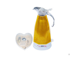 Yellow Electric Kettle With Voice And Led Flash Prompt