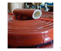 Silicone Fiberglass Braided Shiltek Hose And Cable Fire Resistance Sleevings