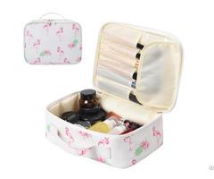 Canvas Cosmetic Storage Zipper Bag Organizer