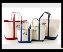 Promotional Cotton Canvas Fashion Beach Shopping Tote Bag