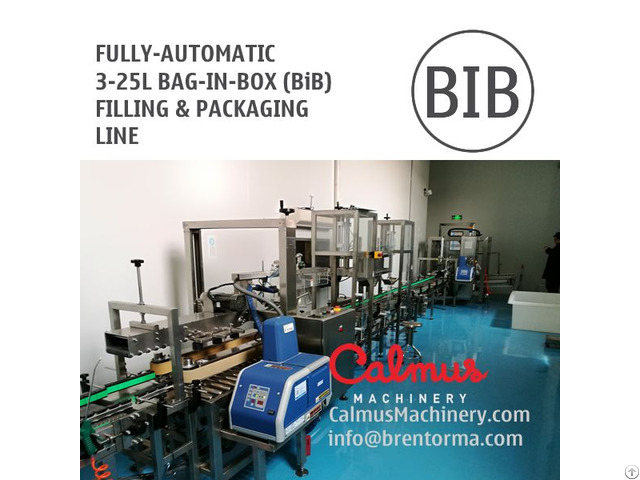 Fill N Pack Complete Bag In Box Line For 3 25l Bib Filling And Packaging