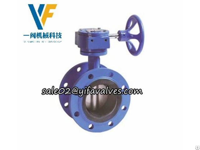 Gearbox Butterfly Valve Flange Connection