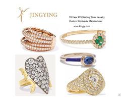 Sterling Silver Rings Fine Jewelry Custom Oem Factory