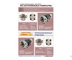 Cosmic Forklift New Parts No 369 Hydraulic Pump Cpw