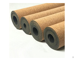 100% Cork And Natural Rubber Yoga Mats Kmr02