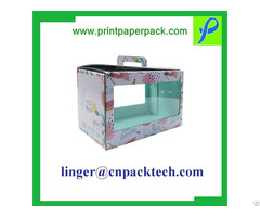Window Custom Logo Packaging Flower Gift Boxes For Cosmetic