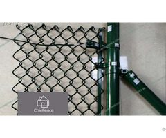 Chain Link Security Fence With Barbed Wire Outside