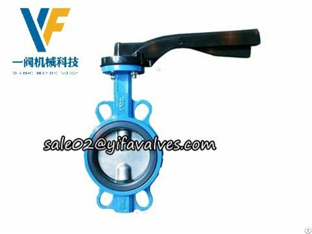 Double Stem Wafer Butterfly Valve