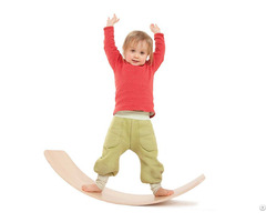 Kid Yoga Wood Wobble Balance Curvy Board