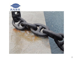 China Leading Factory Marine Offshore Stud Link Anchor Chain With Two Years Quality Warranty