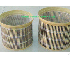 Eco Friendly Bamboo Planter Basket Set Of 2 Pieces With Liner