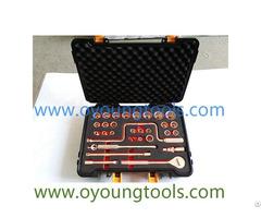 """Non Sparking Tools Socket Set 1 2"""" 32 Pcs"""