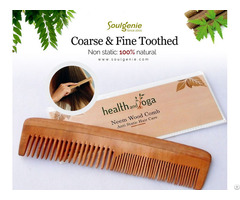 Neem Comb Coarse And Fine Toothed