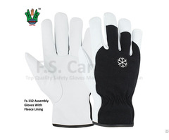 Men S Assembly Gloves With Fleece Lining