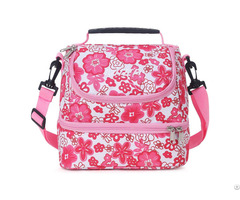 Mier 2 Compartment Small Lunch Bag Leakproof Cooler Tote