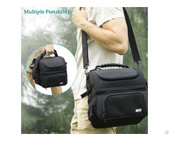 Mier Dual Compartment Lunch Bag Tote