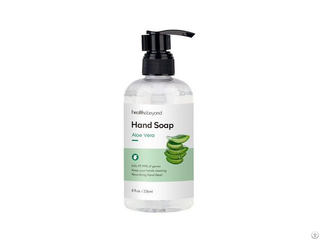 Fda Ce Approved Custom 236ml Aloe Vera Hand Wash Liquid For Hotel