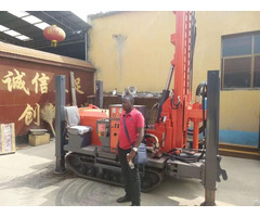 200m Depth Crawler Track Water Well Drilling Rig With Air Compressor
