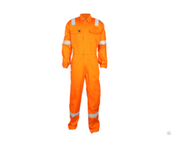 Flame Retardant Cotton Coverall With Pockets On The Chest