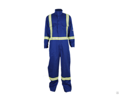 Anti Fire Long Sleeve Coveralls With Reflective Tape