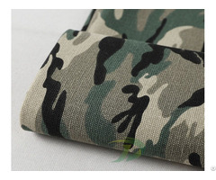 Canvas Camouflage Printed Fabric