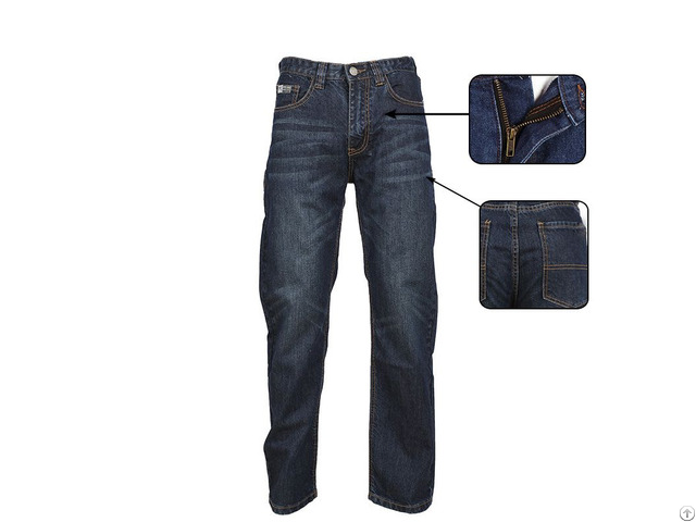 Stylish Men S Denim Work Pants Are Flame Retardant And Durable