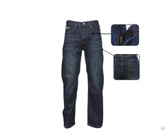 Stylish Men S Denim Work Pants Are Flame Retardant And Durable