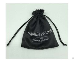 Black Satin Jewelry Pouch