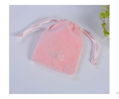 Pink Velvet Jewelry Drawstring Bag