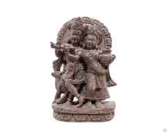 Natural Craft Gitagged Konark Stone Carving Radha Krishna Sculpture