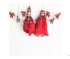 Natural Craft Gitagged Khatputli Raja Rani Pink Bhandini